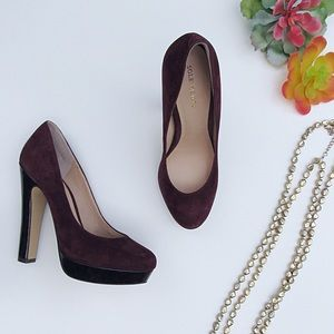 Wine & Tortoise Platform Sole Society Pumps 7 1/2